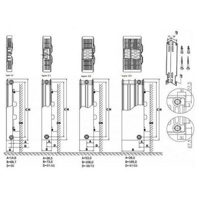 Thermrad Compact 4 - 300x1000 T33 - 1398 Watt.